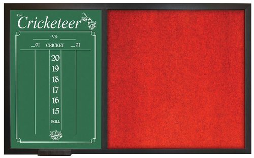 Dart World Backboard Scoreboard Combo, Red by Dart World