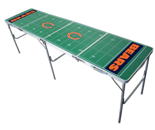 Sports Bear - Chicago Bears 2x8 Tailgate Table by Wild Sports