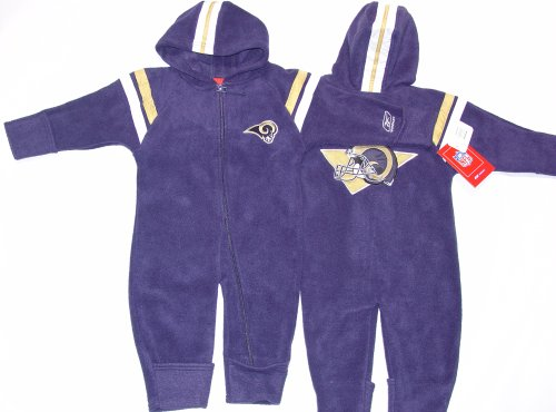 - St. Louis Rams NFL Reebok Baby Fleece Coverall (Size 24 Months)