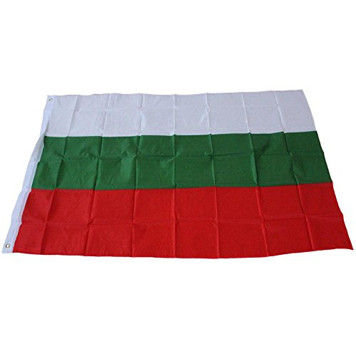 AMA(TM) Bulgaria National Flag Bulgarian Country Banner Polyester Pennant Flags 3X5 ft (Red) (Bulgaria Flag)