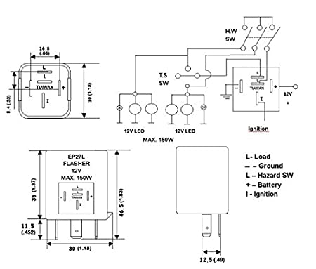 410J4aFLZmL._SX450_ electronic flasher wiring trusted wiring diagrams