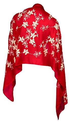 - Love Lakeside Indian Summer Medallion or Floral Vine Fashion Sarong, Wrap, Shawl, Scarf Red Vine