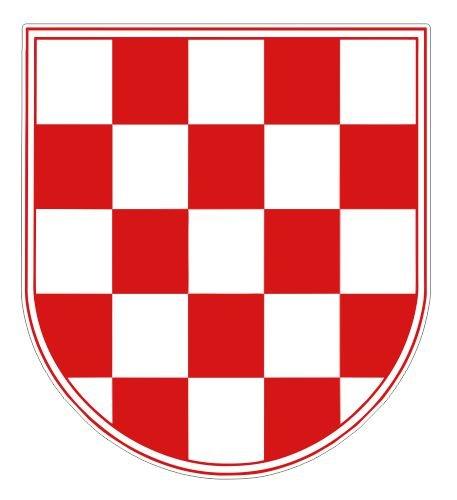 (JS Artworks Croatian Coat of Arms Vinyl Sticker Decal)