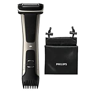 Philips Serie 7000 BG7025/15 - Afeitadora Corporal con Cabezal de Recorte y de Afeitado, 80 minutos de Uso, apta para la Ducha, Negro