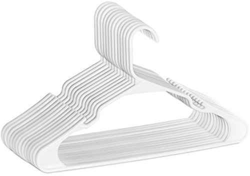 Zoyer Standard Plastic Hangers (20 Pack) - Durable and Strong - White by Zoyer