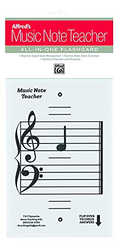photo regarding Printable Music Notes Flashcards called Alfreds New music Be aware Instructor: All-Inside of-One particular Flashcard (White)