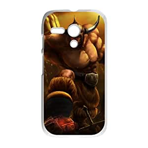 Motorola G Cell Phone Case White League of Legends Barbarian Sion JU9788480