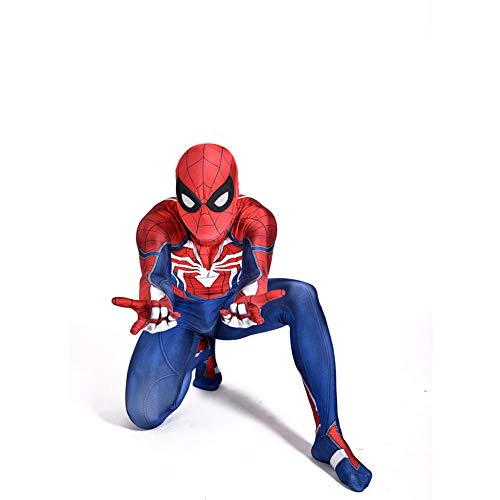 QXMEI Children Spiderman Anime Game Costume Siamese Tights Cosplay Halloween Character Performance Costume,Adult-M(150-160cm) -
