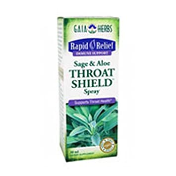 Throat Shield Sage Aloe, Spray 1 oz by Gaia Herbs Pack of 2