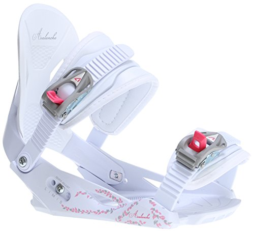 Avalanche Serenity Snowboard Bindings White/Pink Womens