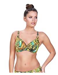 Freya Womens Wilderness Underwire Plunge Bikini Top