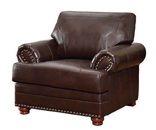 Asian Living Room Chair - Colton Chair with Comfortable Cushions Brown