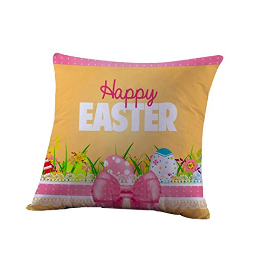[Easter Pillowcase TOOPOOT Print Pillow Case Sofa Waist Throw Cushion Cover Home Decor (g)] (Pillowcase Dress Costume)