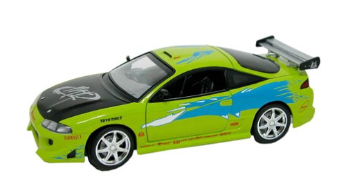 Racing Champions the Fast and the Furious Bright Green 1995 Mitsubishi Eclipse 1:18 Metal Die Cast