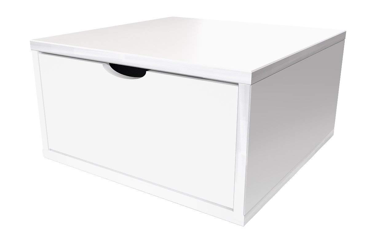tiroir Bois ABC MEUBLES CUBE50T Cube de Rangement 50x50 cm Rouge