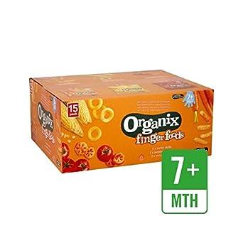 Organix Bulk Snack Pack Gemischt 15 X 20 G - Packung mit 4