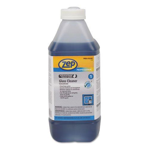 Zep Professional Advantage+ Concentrated Glass Cleaner, 2L Bottle - Includes four bottles.