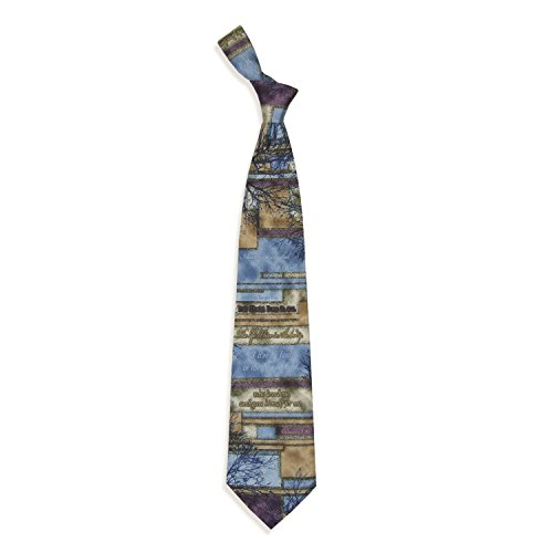 Eagles Wings Men's Finely Crafted Inspirational Necktie - Crucified With Christ