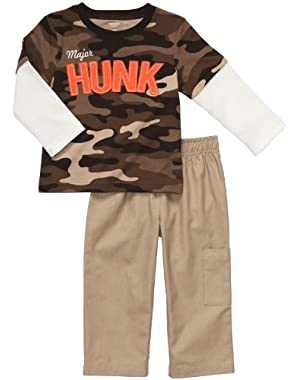 Carter's Baby Boy's Infant Two Piece Pant Set - Major Hunk