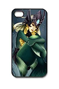 Customizablestyle League of Legends Nami-6 iPhone 4/4S PC Black Hard Shell Case