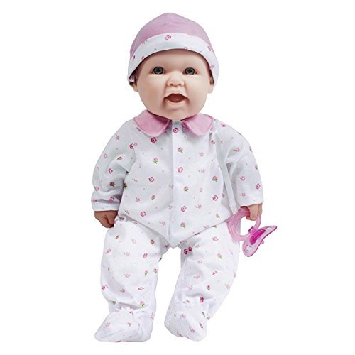 JC Toys, La Baby 16-inch Washable Soft Body Pink Play Doll - For Children 2 Years Or Older, Designed by Berenguer