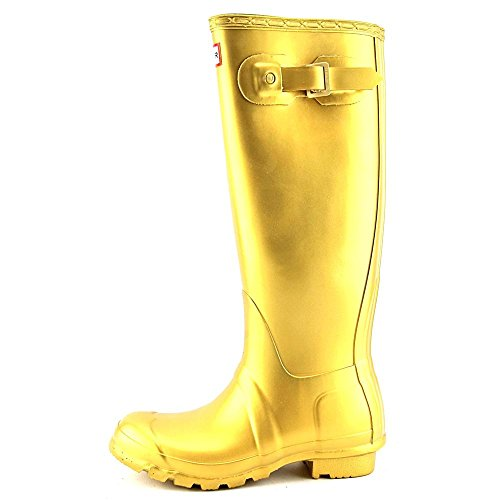 Hunter Wellington Boots Antique Gold UK Size 3 2nKeD9RC