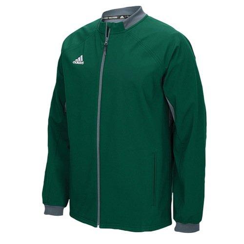 adidas Mens Climawarm Fielders Choice Full-Zip Warm Jacket Green/Grey Xs