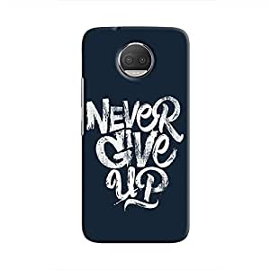 Cover It Up - Never Give Up Moto G5s Plus Hard Case