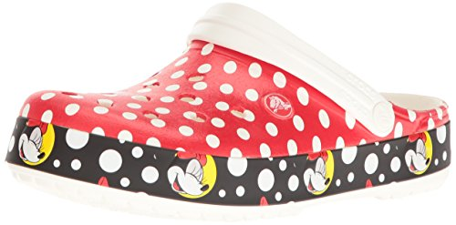 Crocs Unisex Crocband Minnie Clog Mule, Multi, 6 US Men's/8 US Women's