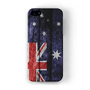 Grunge madera bandera de Australia–bandera australiana Full Wrap alta calidad 3d impresa Caso, snap-on Protector duro para Apple® iPhone 5/5S por UltraFlags