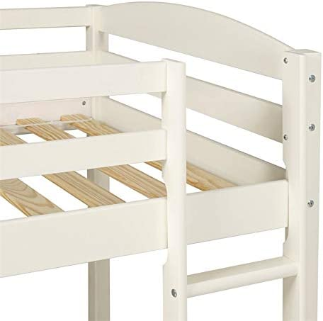 Pemberly Row Solid Wood Kids Junior Low Loft Twin Bunk Bed