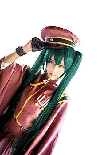 RF Womens Vocaloid Senbonzakura Miku Hatsune Costume Dress Wig Set Handkerchief [Adult (About 67-71 inches Tall)] (L)
