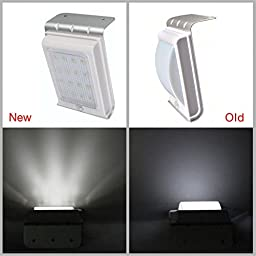 Oxyled OxySol SL10 16 LED Super Bright Waterproof Solar Powered Light Motion Sensor Outdoor Garden Patio Path Wall Mount Gutter Fence Security Lamp Light