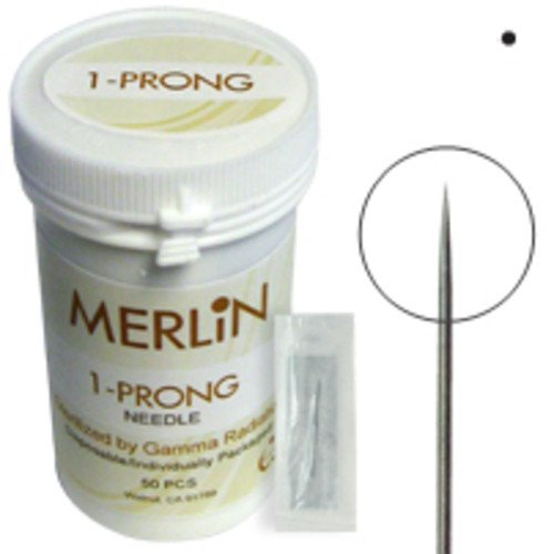 BioTouch Permanent Makeup 1 Prong ROUND NEEDLES Deluxe Merlin Machine Bio Touch