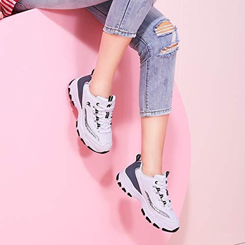 Blanco Super Shoe Mujer Fire Otoño De Sports Negro Shoes Zapatos Blanco Casual Plana Sneakers Mujer Mujer Harajuku Z7qYxg
