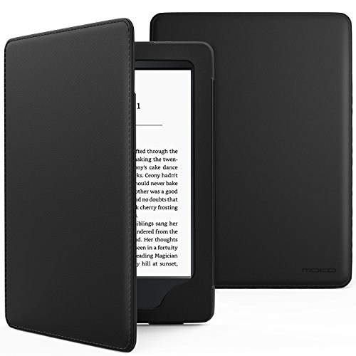 MoKo Case for Kindle Paperwhite, Premium Cover with Auto Wake / Sleep for Amazon All-New Kindle Paperwhite (Fits All 2012, 2013, 2015 and 2016 Versions), BLACK