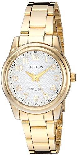 Sutton by Armitron Women's SU/1005WTGP Easy to Read Gold-Tone Bracelet Watch