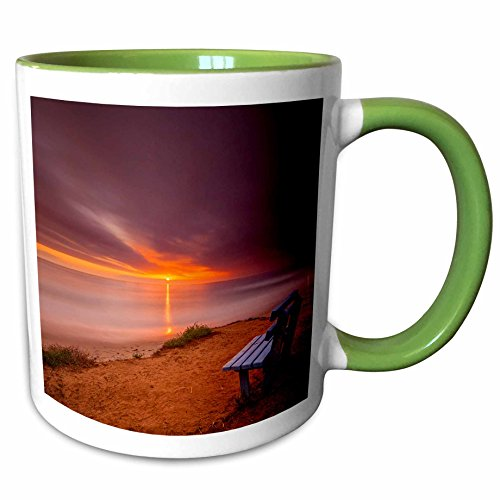 3dRose Danita Delimont - Sunsets - Sunset over the Pacific Ocean in Carlsbad, CA - 11oz Two-Tone Green Mug - Outlet Carlsbad Ca