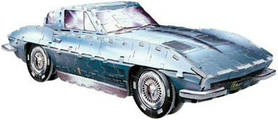 1963 Coupe Window Split Corvette (Corvette Sting Ray 1963, 274 Piece 3D Jigsaw Puzzle Made by Wrebbit Puzz-3D)