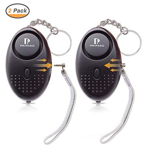 Personal Safety Alarm for Women, 2 Pack Personal Security Alarm Kit with LED Light with 130dB Safesound Personal Alarm Keychain Self-Defense System for Kids, Elderly, Girls, Children, Night Workers