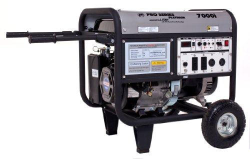 Platinum Series  7000 Watt Comercial/Contractor 13 HP 389cc OHV Gas Powered Portable Generator with Recoil Start and Wheel Kit with Never-Flat Foam Filled Tires (CARB Certified) - LIFAN LF7000iPL-CA