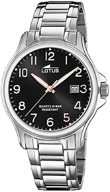 Lotus Reloj Analógico para Hombre de Cuarzo con Correa en Acero Inoxidable 18645/3