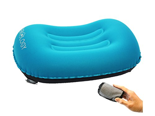 Trekology Ultralight Inflating Travel / Camping Air Pillows (blue - new design (new valve))