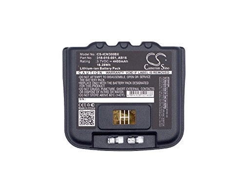 Cameron sino 4400mAh Li-ion Battery For Intermec CN3, CN3E, CN4, CN4E, fits Intermec 318-016-001, 318-016-002, AB15, AB16, AB9 HENZENS