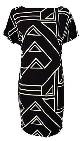 Lauren Ralph Lauren Women's Plus Size Geometric Print Jersey Dress-M-3X - Plus Size Print Jersey