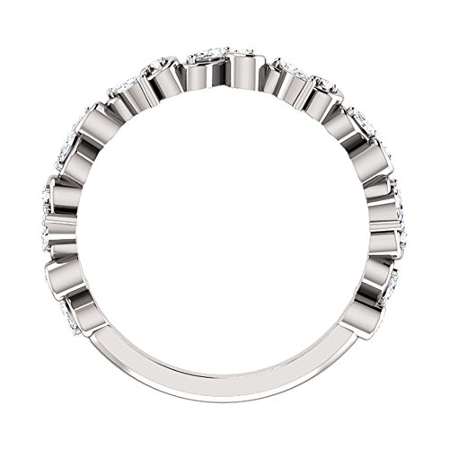 1.00 ct Ladies Round Cut Diamond Eternity Wedding Band in 18 kt White Gold