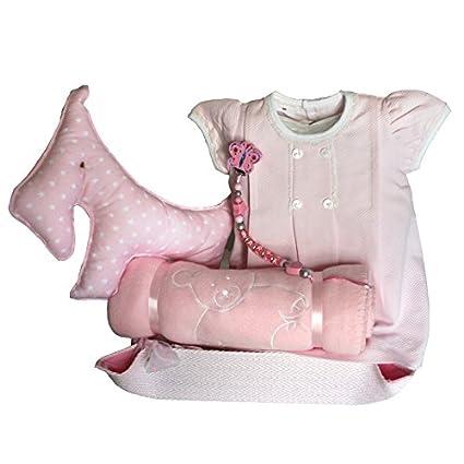 Canastilla bebé - Paseo Perro rosa - cesta regalo recién nacido Mil ...