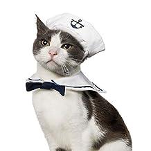 Cat Small Dog Sailor Adjustable Outfit Costume Hat & Cape 2pcs