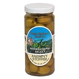 Santa Barbara, Olive Stfd Anchovy Jar, 5 OZ (Pack of 6)