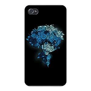 "Apple iPhone Custom Case 5c White Plastic Snap On - ""Real Blues"